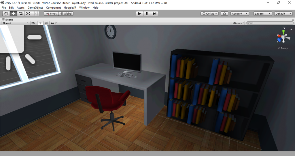A 3D rendered office scene.