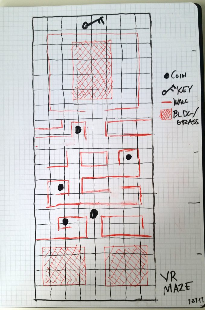 A hand-drawn sketch of the maze.